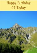 Happy Birthday - 97 Today - Option 1